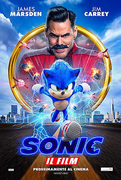 """Movie poster for """"SONIC: IL FILM"""""""