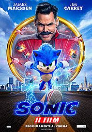 "Movie poster for ""SONIC: IL FILM"""