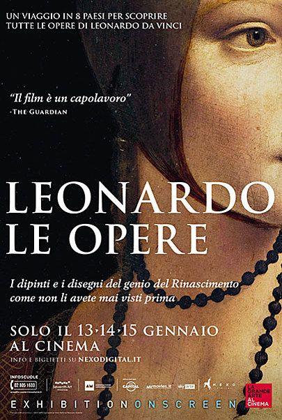 "Movie poster for ""LEONARDO: THE WORKS"""