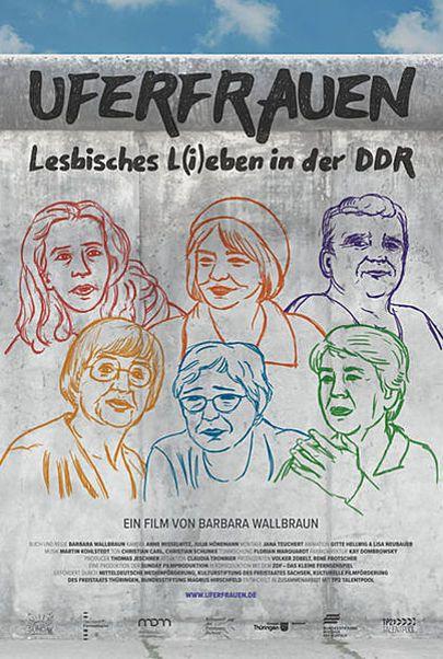 """Movie poster for """"UFERFRAUEN - LESBISCHES L(I)EBEN IN DER DDR"""""""