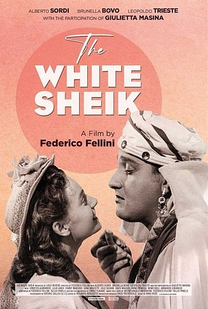 """Movie poster for """"THE WHITE SHEIK"""""""
