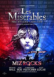 """Movie poster for """"LES MISERABLES - THE STAGED CONCERT"""""""