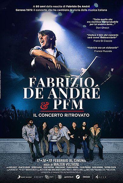 """Movie poster for """"FABRIZIO DE ANDRÉ E PFM: IL CONCERTO RITROVATO"""""""