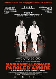 "Movie poster for ""MARIANNE & LEONARD PAROLE D'AMORE"""