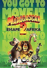 """Movie poster for """"MADAGASCAR ESCAPE 2 AFRICA"""""""