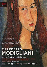 """Movie poster for """"MALEDETTO MODIGLIANI"""""""
