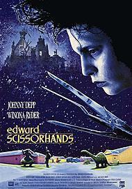 "Movie poster for ""EDWARD SCISSORHANDS"""