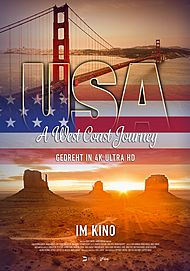 "Movie poster for ""USA – A WEST COAST JOURNEY"""
