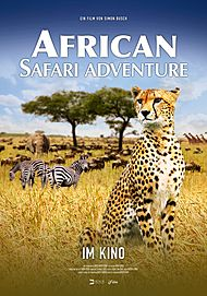 "Movie poster for ""AFRICAN SAFARI ADVENTURE"""