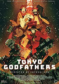 """Movie poster for """"TOKYO GODFATHERS"""""""