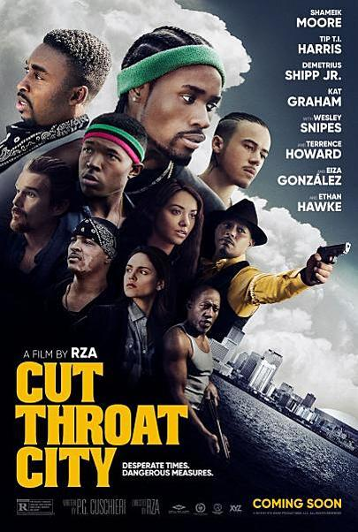 """Movie poster for """"CUT THROAT CITY"""""""