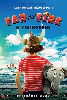 Plakat for FAR TIL FIRE OG VIKINGERNE