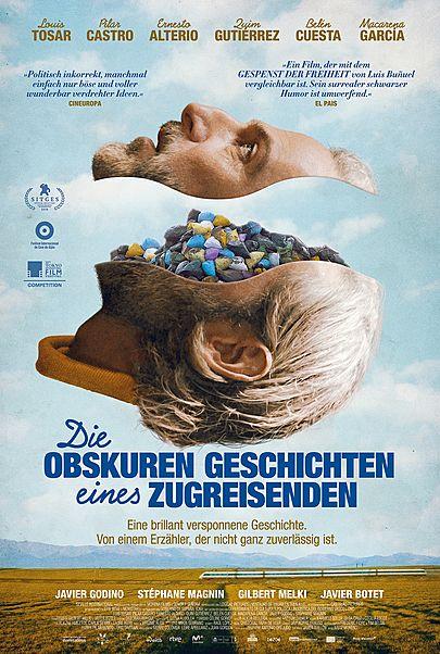 """Filmplakat für """"DIE OBSKUREN GESCHICHTEN EINES ZUGREISENDEN"""""""