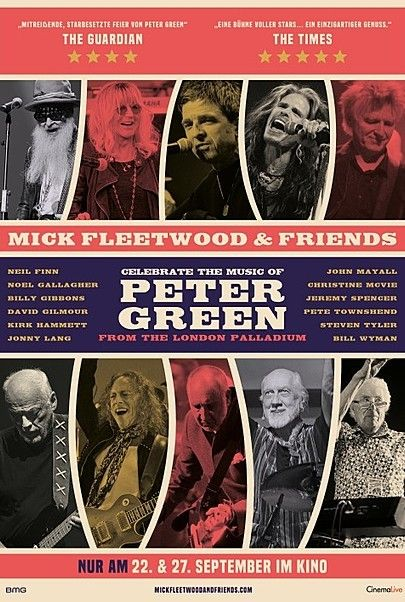 """Movie poster for """"MICK FLEETWOOD & FRIENDS CELEBRATE THE MUSIC OF PETER GREEN"""""""