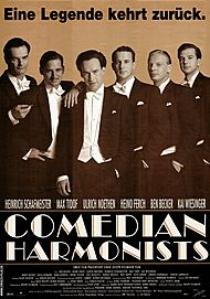 "Movie poster for ""COMEDIAN HARMONISTS"""
