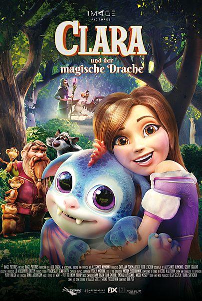 """Filmplakat für """"CLARA UND DER MAGISCHE DRACHE """""""