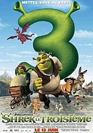 """Movie poster for """"SHREK THE THIRD"""""""
