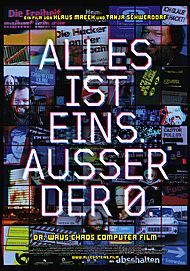 "Movie poster for ""ALLES IST EINS. AUSSER DER 0."""