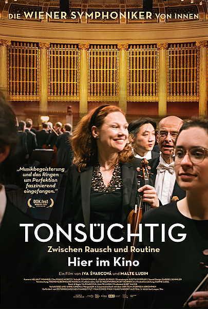 """Filmplakat für """"TONSÜCHTIG - DIE WIENER SYMPHONIKER ZWISCHEN RAUSCH UND ROUTINE"""""""