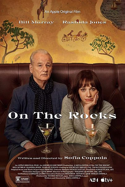 """Movie poster for """"ON THE ROCKS"""""""