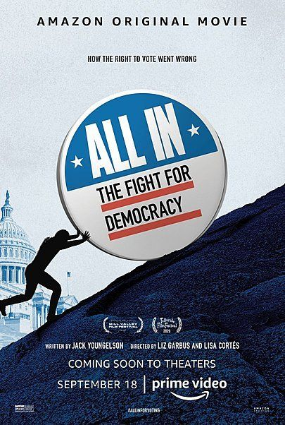 """Movie poster for """"ALL IN: THE FIGHT FOR DEMOCRACY"""""""