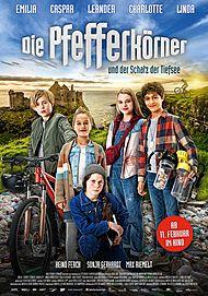 """Movie poster for """"DIE PFEFFERKÖRNER UND DER SCHATZ DER TIEFSEE"""""""