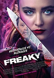 """Movie poster for """"FREAKY"""""""