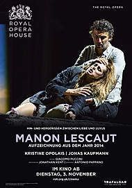 "Movie poster for ""MANON LESCAUT - ROYAL OPERA HOUSE 2020 """