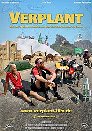 """Filmplakat für """"VERPLANT - WIE ZWEI TYPEN VERSUCHEN, MIT DEM RAD NACH VIETNAM ZU FAHREN"""""""