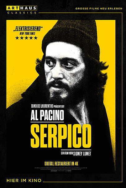 """Filmplakat für """"SERPICO"""""""
