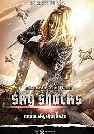 "Movie poster for ""SKY SHARKS"""