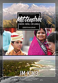 "Movie poster for ""MITTENDRIN - INDIEN, NEPAL & SRI LANKA"""