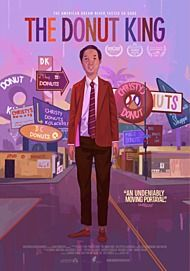 "Movie poster for ""THE DONUT KING"""