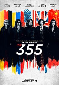 """Movie poster for """"The 355"""""""