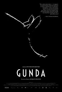 "Movie poster for ""GUNDA"""