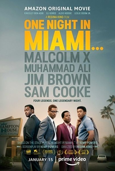 """Movie poster for """"ONE NIGHT IN MIAMI"""""""