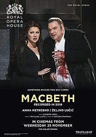 """Movie poster for """"MACBETH - ROYAL OPERA HOUSE 2020 """""""
