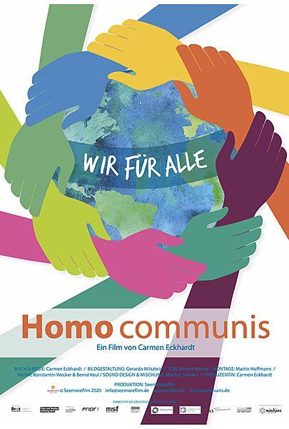 """Movie poster for """"HOMO COMMUNIS – WIR FÜR ALLE"""""""