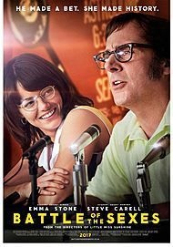 """Movie poster for """"BATTLE OF SEXES """""""