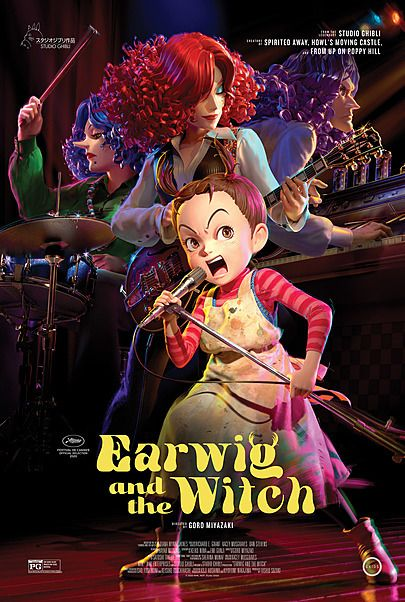 """Movie poster for """"EARWIG AND THE WITCH"""""""