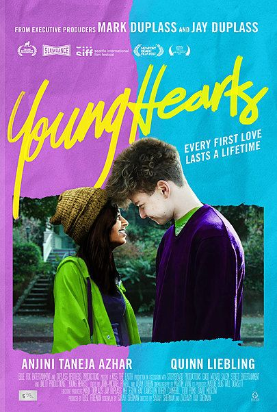 """Movie poster for """"YOUNG HEARTS"""""""