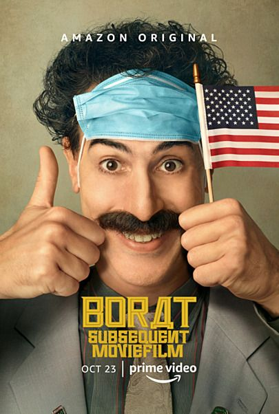 """Movie poster for """"BORAT SUBSEQUENT MOVIEFILM"""""""