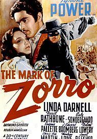 """Movie poster for """"THE MARK OF ZORRO"""""""