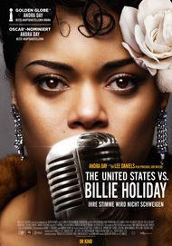"Movie poster for ""THE UNITED STATES VS. BILLIE HOLIDAY"""