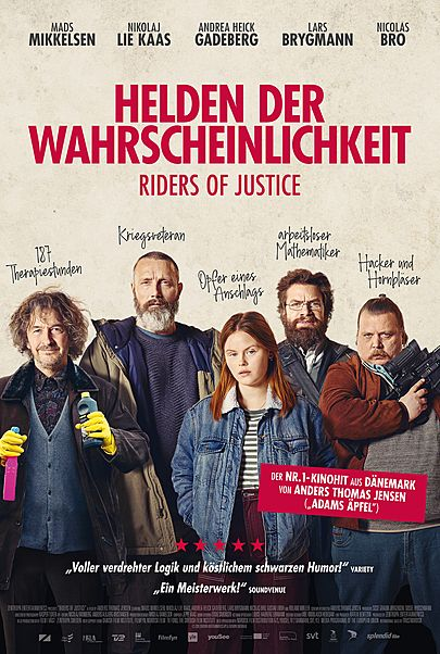 """Movie poster for """"RIDERS OF JUSTICE"""""""