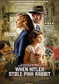 "Movie poster for ""WHEN HITLER STOLE PINK RABBIT"""