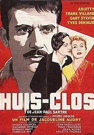 """Affiche du film """"HUIS CLOS"""""""