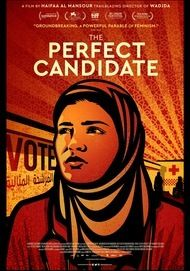 "Movie poster for ""THE PERFECT CANDIDATE"""