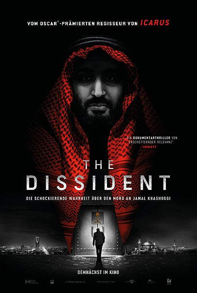 """Movie poster for """"THE DISSIDENT"""""""
