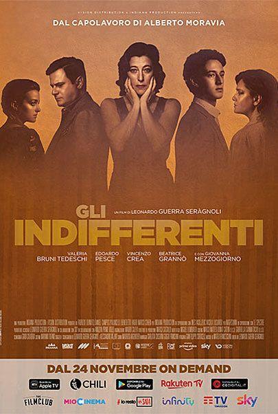 """Movie poster for """"Gli Indifferenti"""""""
